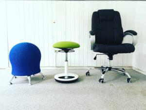 Sitzmöbel-Auswahl für gesünderes Arbeiten im CoWorking Schlei