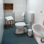 Privates Badsezimmer des Homestay-Zimmer 1 im CoWorking Schlei